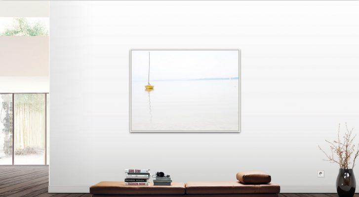 GELB Foto auf Leinwand matt mit Rahmen