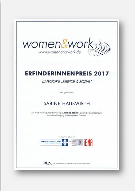 Women Work Erfinderinnenpreis 2017 Grafik