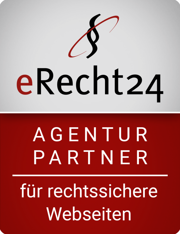 erecht24 siegel agenturpartner rot gross